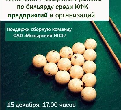 Чемпионат Мозырского района по бильярду